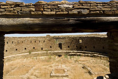 Great Kiva. A view inside the Great Kiva of Chaco Canyon ruins royalty free stock image