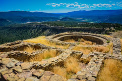 Great Kiva - Chimney Rock National Monument - Colorado. Ancient ruins of Great Kiva at Chimney Rock National Monument in San Juan National Forest in southwestern royalty free stock photo