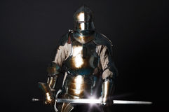 Great knight holding his sword Stock Photo