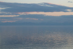 The great lake Baikal at sunset, Russia Stock Photography