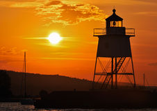 Great Lake Harbor Lighthouse Sunrise Royalty Free Stock Photos
