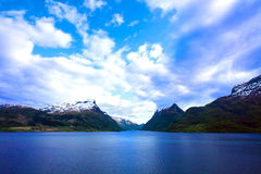 Great lake of Norway Stock Images