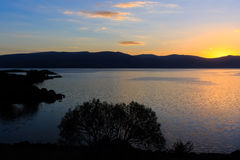 Great lake and sunset views Stock Image