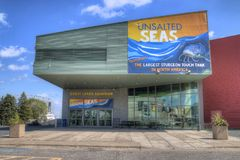 Great Lakes Aquarium in Duluth Minnesota stock photo