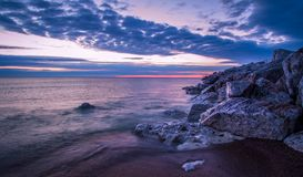 Great Lakes Coastal Sunrise Royalty Free Stock Image