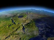 Great Lakes de l'Afrique de l'espace Image libre de droits