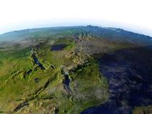 Great Lakes de l'Afrique sur le modèle réaliste de la terre Images libres de droits