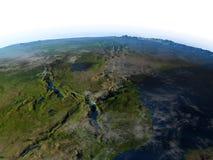 Great Lakes de l'Afrique sur terre de planète Photo libre de droits