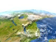 Great Lakes de l'Afrique sur terre de planète Image libre de droits