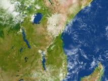Great Lakes de l'Afrique sur terre de planète Images stock
