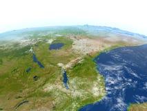 Great Lakes de l'Afrique sur terre de planète Photographie stock libre de droits