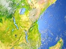 Great Lakes de l'Afrique sur terre de planète Photos stock