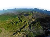 Great Lakes de l'Afrique sur terre - fond océanique évident Images libres de droits