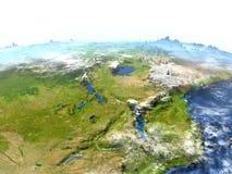 Great Lakes de l'Afrique sur terre - fond océanique évident Images stock