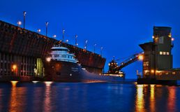 Great Lakes Freighter Royalty Free Stock Photos