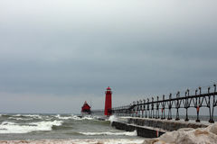 Great Lakes fyrar Royaltyfri Fotografi