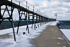 Great Lakes Lighthouse In Winter Royalty Free Stock Photo