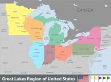 Great Lakes Region of United States Stock Photos
