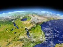 Great Lakes von Afrika vom Raum Stockfoto