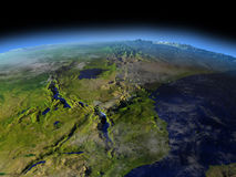 Great Lakes von Afrika vom Raum Lizenzfreies Stockbild