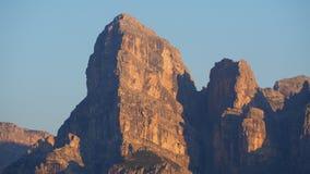 Great landscape at the Dolomites, Italy. View at Gardenaccia during summer sunrise. Alta Badia, Sud Tirol. Great landscape at the Dolomites, Italy. View at stock photos