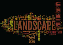 Great Landscape Photography Text Background  Word Cloud Concept Royalty Free Stock Photo
