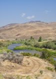 Great landscape from road to John Day Fossil Beds Royalty Free Stock Images