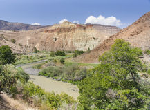 Great landscape from road to John Day Fossil Beds Stock Photos