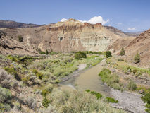 Great landscape from road to John Day Fossil Beds Royalty Free Stock Photos