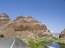 Great landscape view from road to John Day Fossil Beds Stock Photo