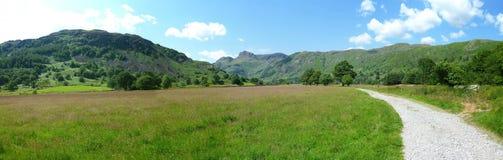 Great Langdale, Lake District panoramic Royalty Free Stock Image