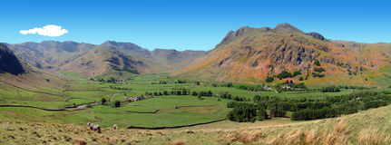 Great langdale panorama Royalty Free Stock Photos