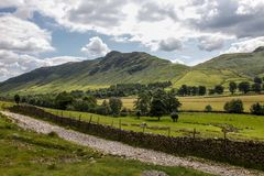 Great langdale pike countryside national park. Great langdale english countryside cumbria national park Stock Photos