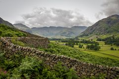 Great langdale pike countryside national park. Great langdale english countryside cumbria scafell pike national park Stock Photography