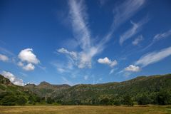 Great langdale scafell pike national park. Great langdale english countryside cumbria scafell pike national park Stock Images