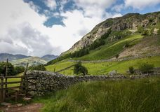 Great langdale scafell pike great gable national p. Great langdale english countryside cumbria scafell pike national park Royalty Free Stock Photos
