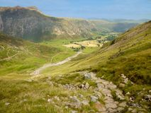 Great Langdale seen from Oxendale, Lake District Stock Image