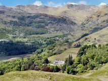Great Langdale viewed from Loughrigg Fell Royalty Free Stock Photography