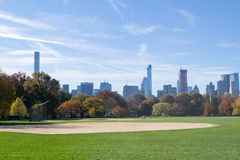 Great lawn located in the heart of Central Park during the fall Royalty Free Stock Photography