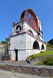 The Great Laxey Wheel front view - Isle of Man Stock Photo