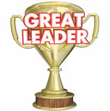 Great Leader Manager Boss Superviser Trophy Prize Award Royalty Free Stock Photos