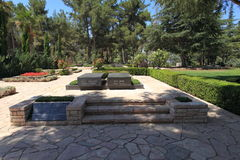 Great Leaders of the Nation's Memorial Park. The section of Mount Herzl dedicated to the Great Leaders of the Nation, the site of Israel's national cemetery Royalty Free Stock Photo