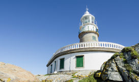 Great lighthouse. In Corrubedo, Spain Royalty Free Stock Image
