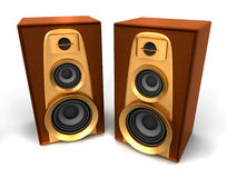 Great loud speakers Stock Image