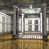 Great Luxury Hall. 3 D Render of an Great Luxury Hall Stock Photos