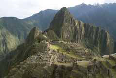Great Machu Picchu. One of the 7 wonders: Machu Picchu in Cuzco, Peru. In the view also Huayna Picchu Royalty Free Stock Photography