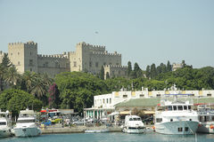 Great Magister Castle. In Rhodes view from Fort Royalty Free Stock Image