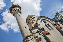 The Great Mahmudiye Mosque, Constanta, Romania. The Great Mahmudiye Mosque (Moscheea Mare Mahmoud II) built in 1910 by King Carol I, famous architecture and Stock Photo