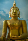 The great man. Big buddha sculpture in temple thailand Royalty Free Stock Photos