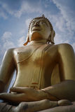 The great man. Buddha sculpture in temple thailand Royalty Free Stock Photo
